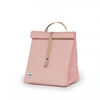 The Original Lunchbag In Pink Color With Beige Strap